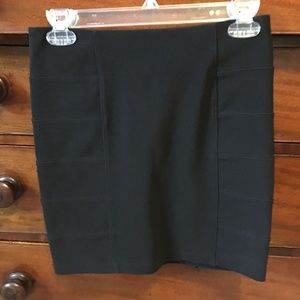 TopShop Black Stretchy Mini Skirt, Banded on Sides